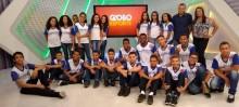 Alunos do Professor Tibúrcio de Itabirito visitam estúdios Globo