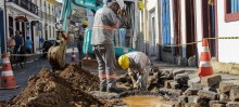 Iniciadas as obras de eletrificação subterrânea - Foto de Felipe Cunha